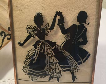Vintage Silhouette On Glass