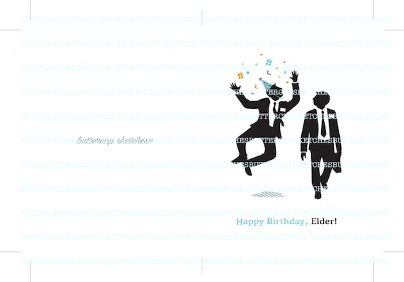 LDS Missionary Birthday Card for Elders   Etsy