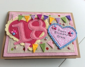 18th Birthday | 21st Birthday | Special Birthday | Female Card | Handmade birthday card |