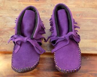 Purple Suede Moccs