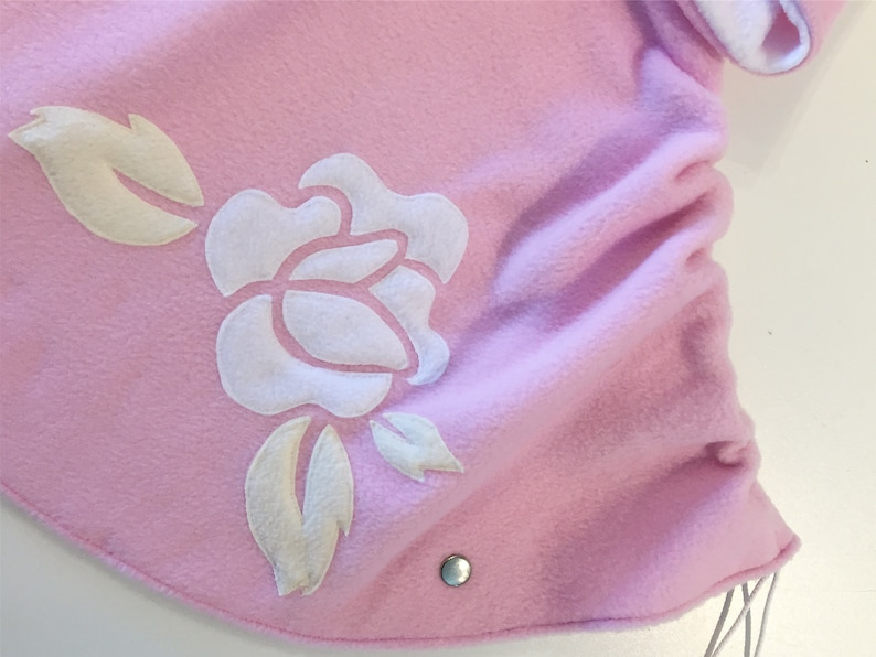 All in one Toddler and Kids Vintage Rose Fleece Poncho /& Car Seat Poncho - Baby