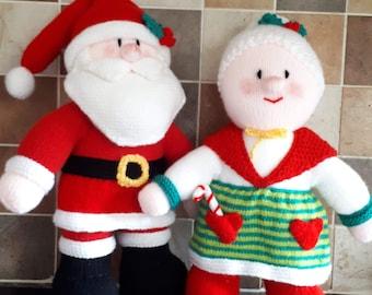 620c1b2da73cc Knitted Santa Claus Mrs Claus