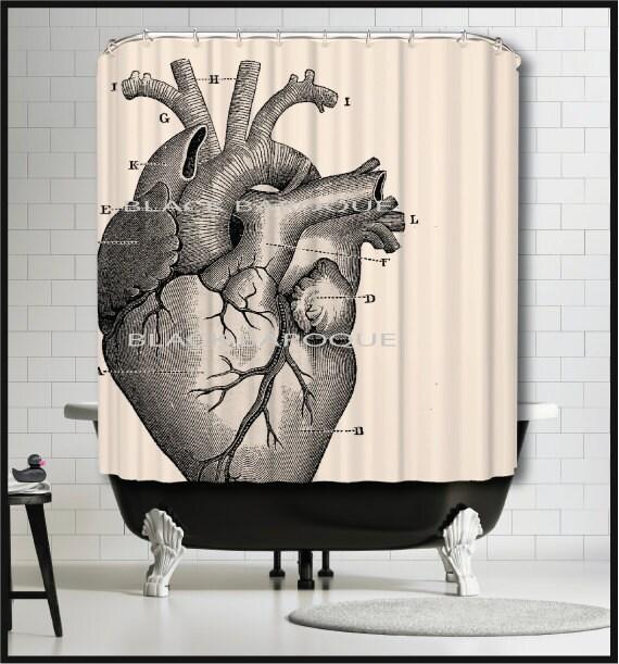 Human Heart Shower Curtain Anatomical