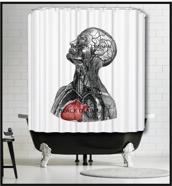 Human Anatomy Shower Curtain Anatomical Head Veins Muschles