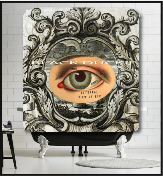 Anatomical Eyeball Shower Curtain Eye Anatomy Medical Gift