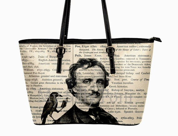 99e34d75bbb5 Edgar Allan Poe Purse - Nevermore Handbag - Raven Poe Purse