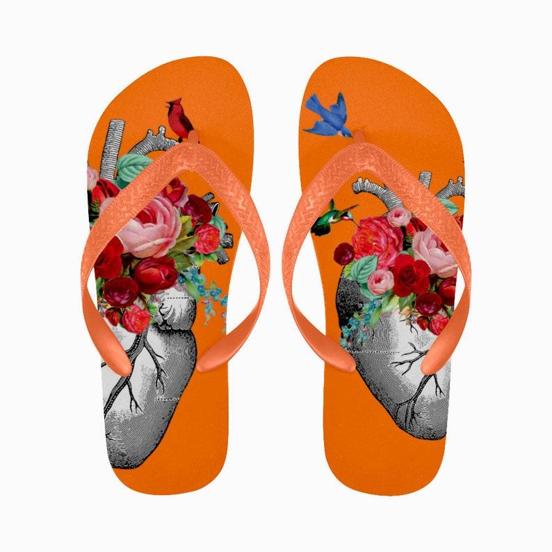 e475eb77363d25 Human Heart Flip Flops Anatomy Flip Flops Hummingbird Flip
