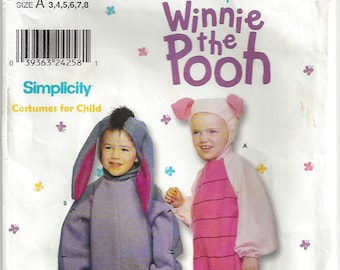 Eeyore costume etsy childs eeyore and piglet costume halloween pattern disneys winnie the pooh simplicity 9379 boys girls toddlers size 3 4 5 6 7 8 solutioingenieria Images