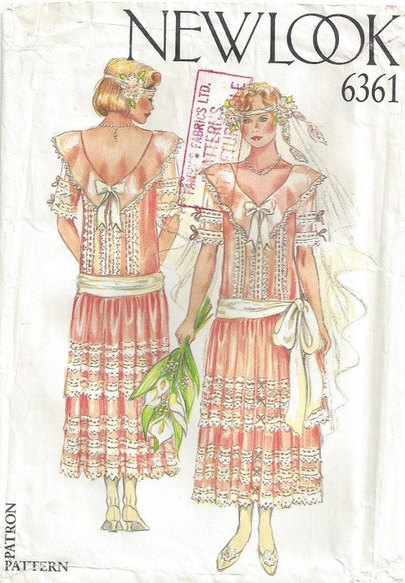 Boho Hochzeit Kleid Flapper sank Taille Rückseite V Hals | Etsy