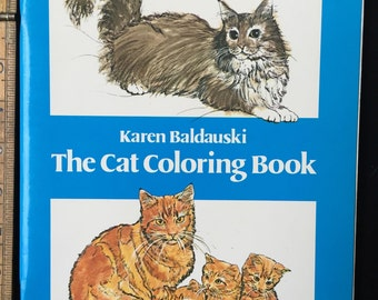 The Cat Coloring Book Dover Nature Staple Bound1980 By Karen Baldauski Vintage Colouring