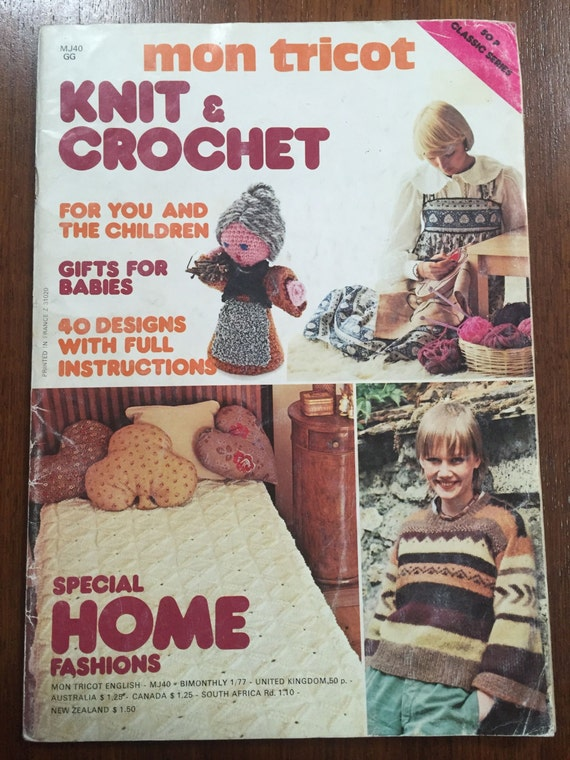 Mon Tricot Knitting Special Mon Tricot Knit Crochet patterns | Etsy