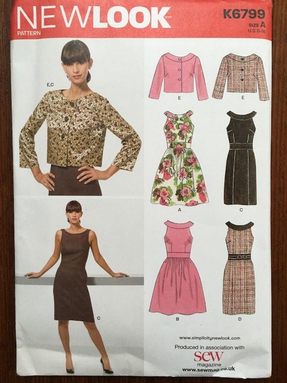 Dress/Jacket 1950s Vintage Style Sewing Pattern 8-18 New Look