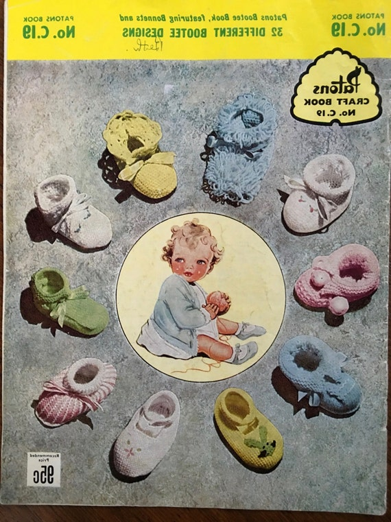 Early Vintage Knitting Patterns Australia Patons C19 Original Etsy