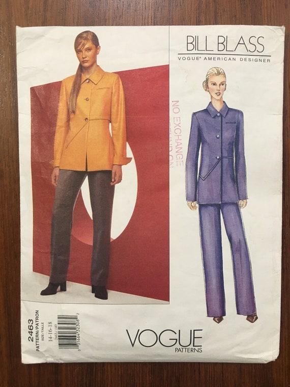 Amerikanische Mode-Designer Bill Blass Schnittmuster Nr. 2463
