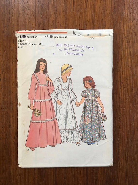 Sewing Pattern No 1431 Style Childrens Bridesmaid Dress Size   Etsy