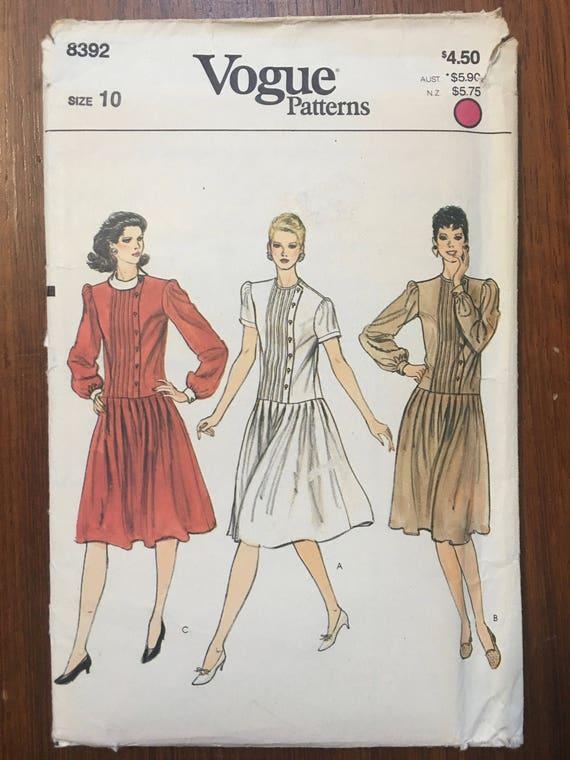 Costura patrones Vogue Vintage 1970s coser patrones Vogue gota | Etsy