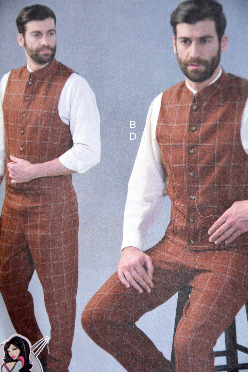 Edwardian Men's Fashion & Clothing 1900-1910s     Sewing McCalls Size MQQ 46 52 plus size M7399 Pattern Men Costume Biblical Historic Star Wars Santa Outlander LOTR GOT $12.12 AT vintagedancer.com