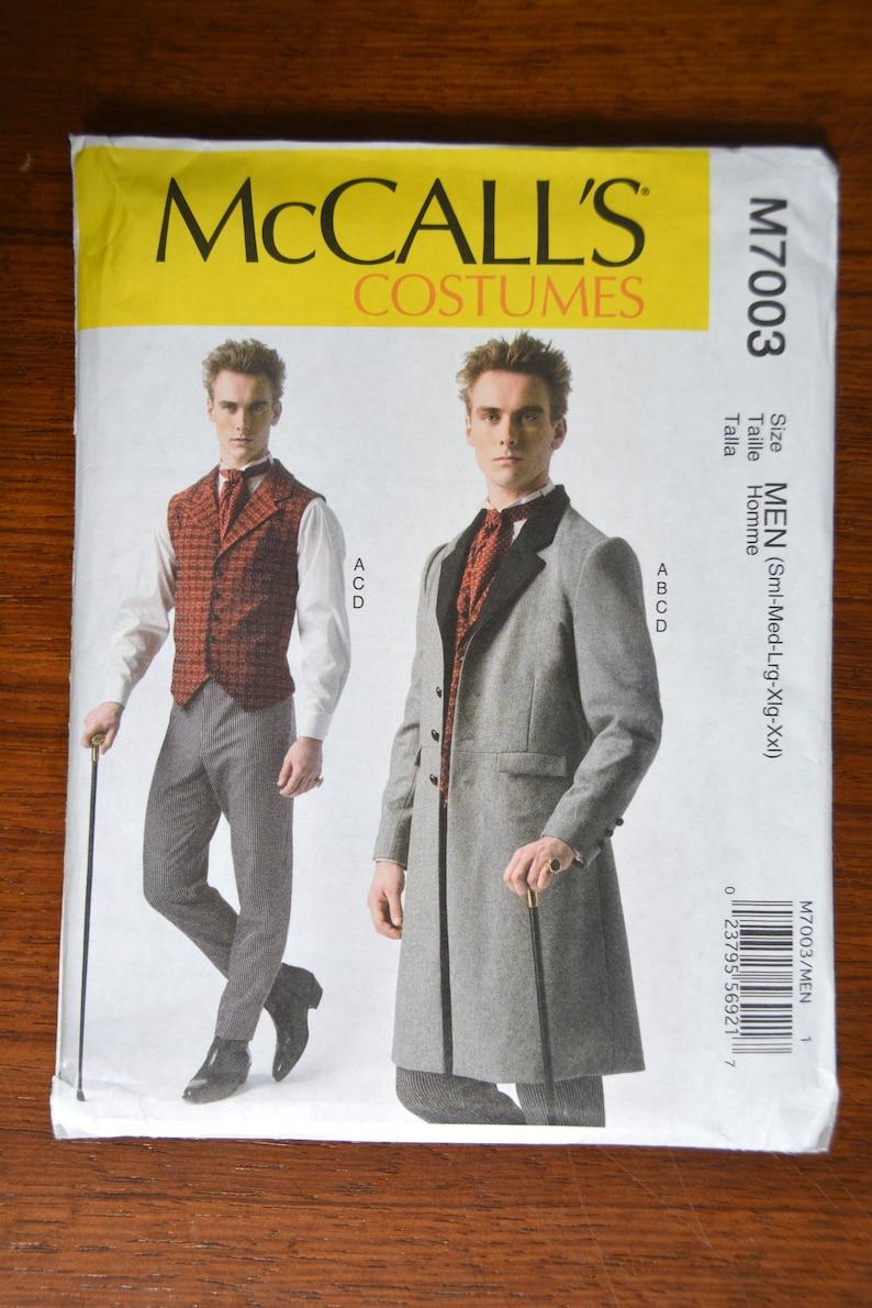 Men's Vintage Reproduction Sewing Patterns     McCalls Sewing Pattern M7003 Mens Steampunk Costume S-XXL Vest Coat Pants 7003 uncut $19.74 AT vintagedancer.com