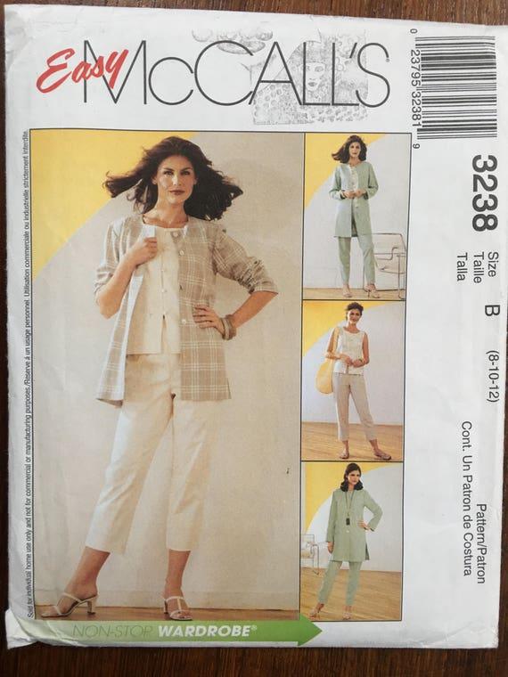 Tapa de no3238 patrón de costura de McCall chaqueta y
