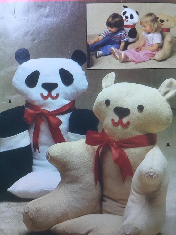 Butterick 4951 Nähen Muster gefüllt Tier Sessel Pandabär | Etsy