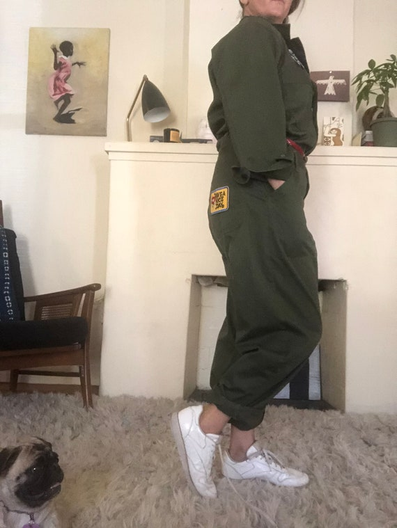 ARMY COVERALLS , WIth VIntage Patches