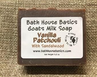 Vanilla Patchouli with Sandalwood Soap