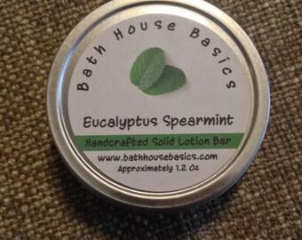 Eucalyptus Spearmint Solid Lotion Bar