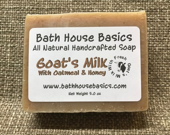 Goat's Milk Soap with Oatmeal & Honey