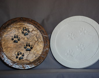 12 Inch Dog Paws Wall Plaque or Stepping-stone