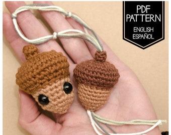 ACORN PATTERN - (Crochet digital pattern in English - Español)