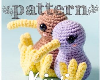 PATTERN Little Kiwi - bird crochet New Zealand amigurumi (pattern in English - Spanish)