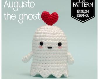 PATTERN AUGUSTO the GHOST (Crochet digital pattern in English - Español)
