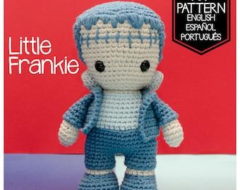 PATTERN LITTLE FRANKIE - Frankenstein's Monster (Crochet digital pattern in English - Español - Português)