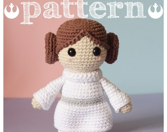 PATTERN PRINCESS LEIA Star Wars - Leia Organa tribute (pattern in English - Español - Português)