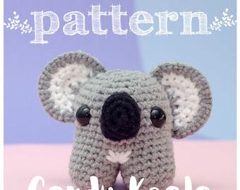 PATTERN Candy Koala - Amigurumi koala crochet doll (pattern in English and Spanish)