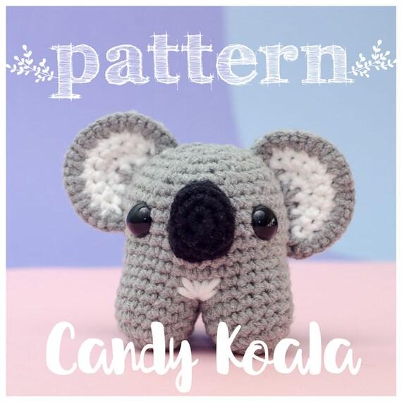 PATRON Candy Koala koala crochet ganchillo amigurumi muñeco | Etsy