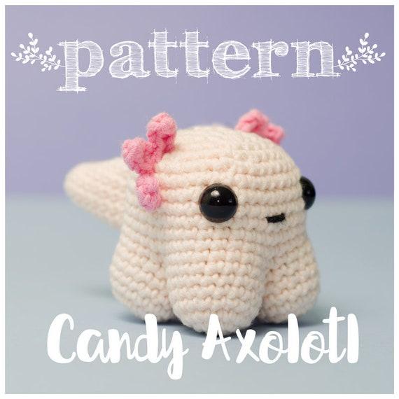PATRON Candy Axolote ajolote crochet ganchillo amigurumi   Etsy