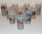 Vintage Kentucky Derby Drinking Glasses Tumblers 1990s Mint Julep