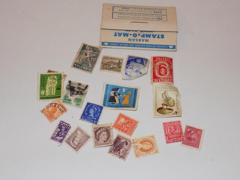 Vintage Marsan Stamp-O-Mat Vend Pack Austrian International Stamps