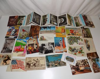 Collection of Vintage Postcards 1910s Stanford Univ. Skyline Drive, Holiday