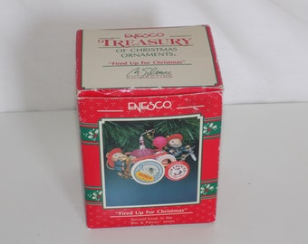 Enesco Fired Up For Christmas Firetruck Ornament Bits & Pieces