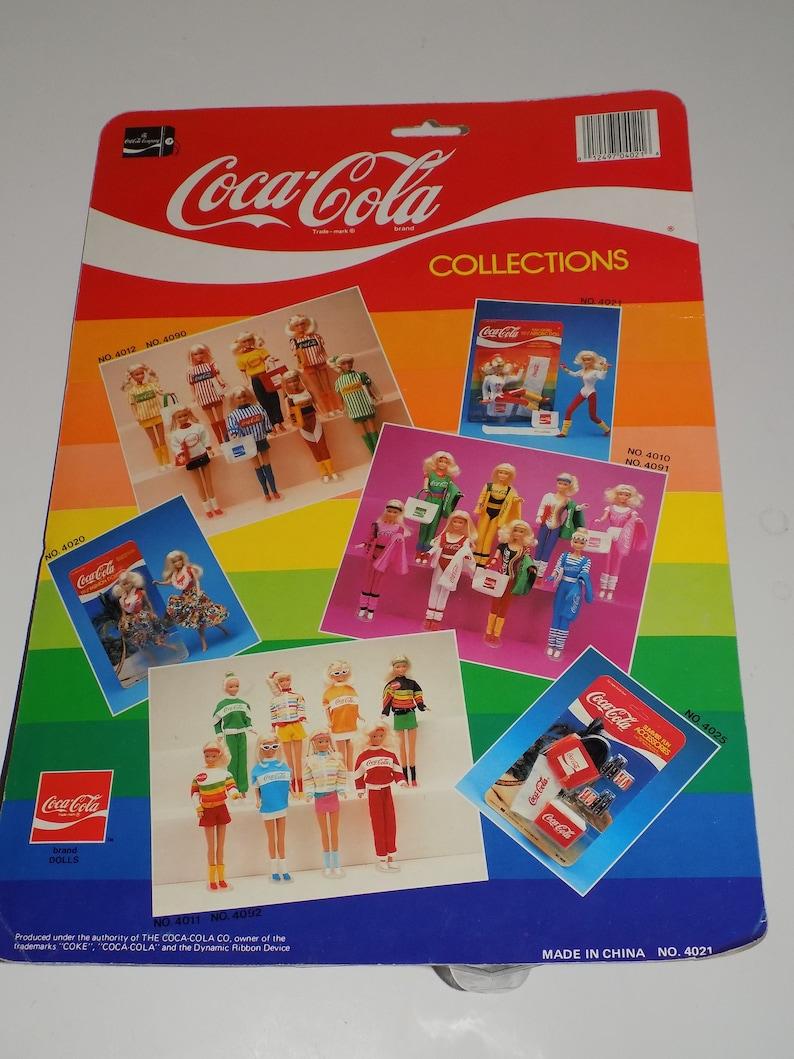 Vintage Coca Cola Barbie Type Aerobic Doll Coke Exercise