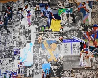 99 Vintage BASEBALL Pictures Collage Cut Pack, Sport Paper Ephemera, Decoupage Images Journal Kit, Boy Wallpaper Mural, Scrapbooking Lot