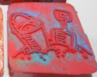 De haute qualité 14 x 24 cm gussrost Ofenrost cuivres ascherost Grille de Feu la rouille