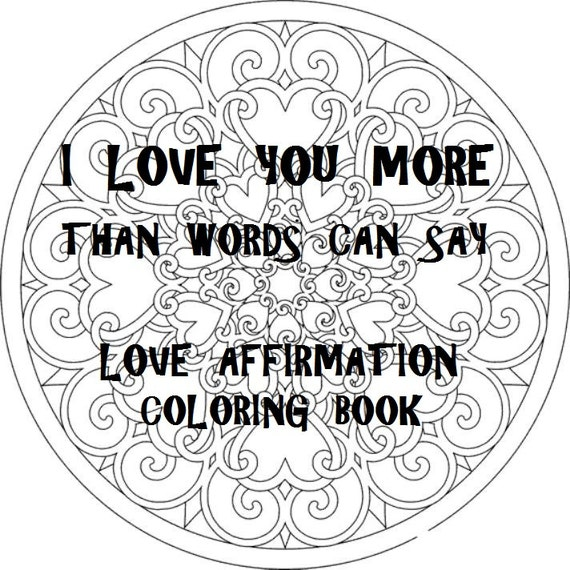 Love Coloring Book 20 Digital PRINTABLE Coloring Pages PDF Etsy