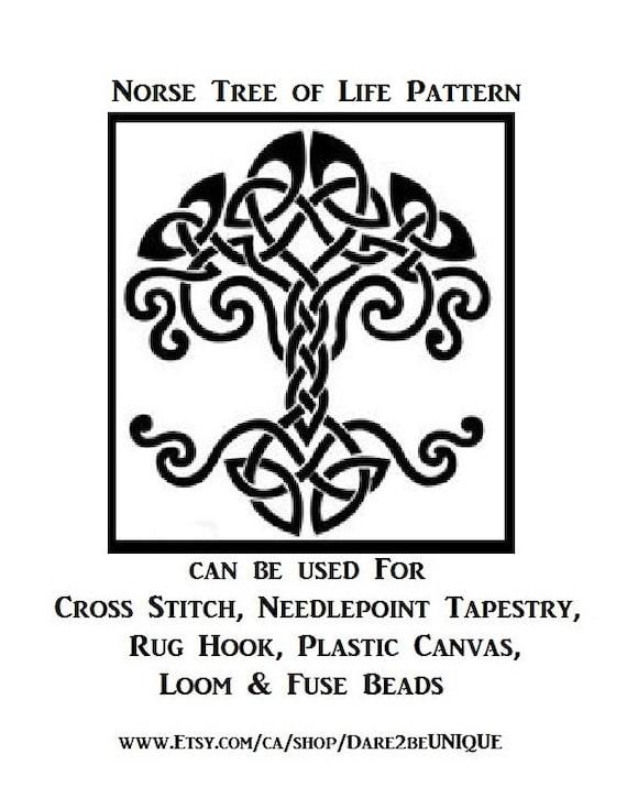 Needlepoint Plastic Canvas Tapestry /& Rug Hooking Patterns Perler Digital Download Viking Art Thor/'s Hammer Norse Cross Stitch PATTERN