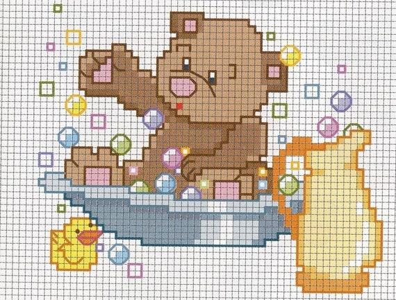 Sale 100 Teddy Bear Patterns Cross Stitch Needlepoint Rug Etsy