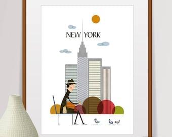 new york print, new york wall art, new york skyline, new york poster, new york, new york art, new york city, city print, new york city print