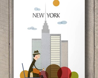 new york city print, new york city, new york print, new york poster, new york, new york art, new york wall art, new york city poster, NY