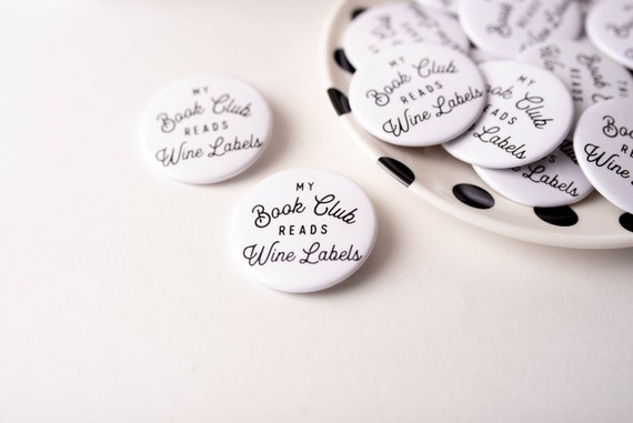Girl reading book lover gift black and white drawing 38 mm Button pin badges
